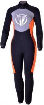 BARAKUDA Anatom Sport HS 7 Damen-Halbtrockenanzug mit Rückenreißverschluss (7 mm)