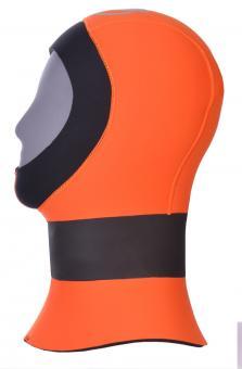 """Barakuda """"Orange Head HS 5"""" separate 5 mm Kopfhaube mit langem Dichtkragen"""