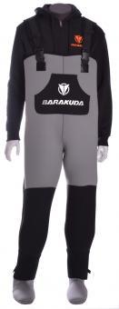 BARAKUDA Wathose in Normal- und Übergrößen - 5 mm Neopren mit Dry-Socks oder Stiefeln